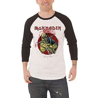 Iron Maiden T Shirt Mens Piece Of Mind new White Official Baseball Shirt