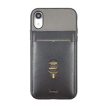 iPhone XR Case Westminster Flip Pocket Hard Shell Black/Grey