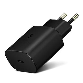 USB-C AC Adapter Charger 25W Fast Charge- Original Samsung, Black