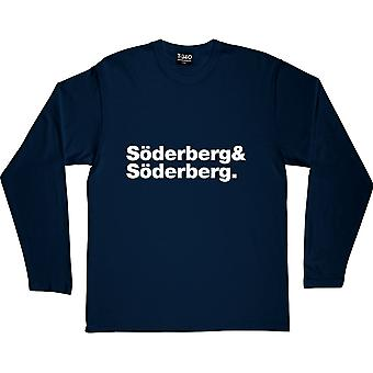 First Aid Kit Line-Up Navy Blue Long-Sleeved T-Shirt