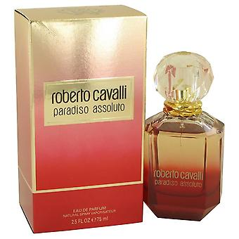 Roberto cavalli paradiso assoluto eau de parfum spray by roberto cavalli 537140 75 ml