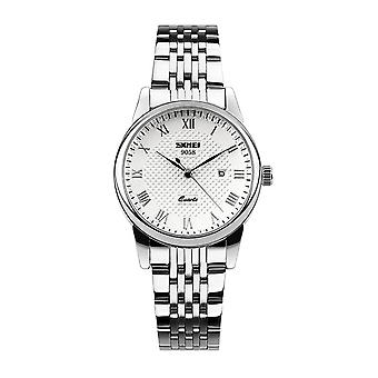 Skmei Ladies Watch Stunning Analogue Watches Silver Stainless Steel Date SK9058L
