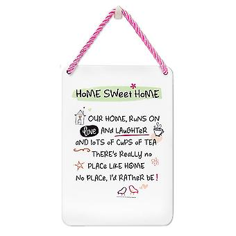 WPL Tin Plaque Home Sweet Home