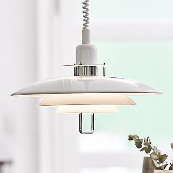 BELID Primus II 430mm Rise And Fall luminaire suspendu en blanc et Chrome