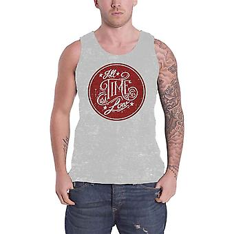 All Time Low Mens Vest Grey USA Future Hearts Distressed band logo Official