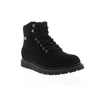 Lugz Gravel HI  Mens Black Nubuck Leather Lace Up Casual Dress Boots