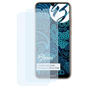 Bruni 2x Screen Protector compatible with Huawei Y6 Prime 2019 Protective Film