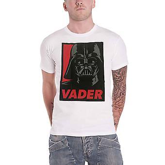 Official Mens Star Wars T Shirt Darth Vader Retro Pop Art Poster New White