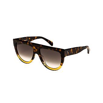 Celine Shadow CL40001I 55B Coloured Havana/Gradient Smoke Sunglasses