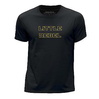 STUFF4 Boy's Round Neck T-Shirt/Funny Daddy's Little Rebel/Black