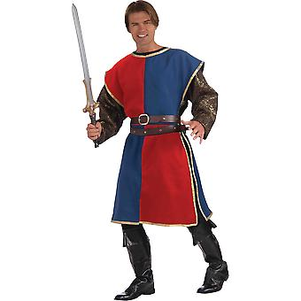 Medieval Soldier Adult Costume Red/Blue