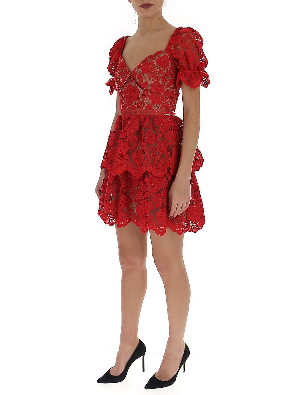 Autoportrait Rs20113sfuchsia Women-apos;s Red Polyester Dress r2frN2
