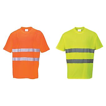 Portwest Cotton Comfort Reflective Safety T-Shirt (Pack of 2)