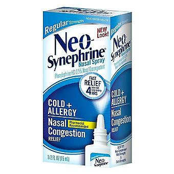 Neo-synephrine cold & sinus spray, regular strength, 0.5 oz
