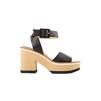 Paloma Barceló Faianablack Women's Black Leather Sandals