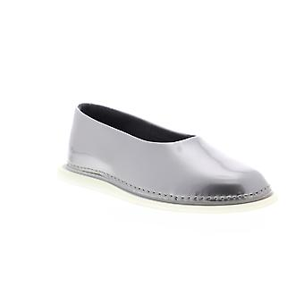 Camper Nixie  Womens Silver Gray Patent Leather Slip On Flats Shoes
