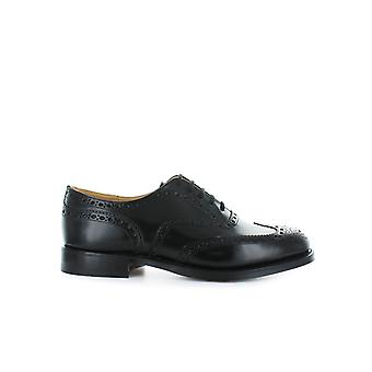 CHURCH'S BLACK BURWOOD LACE UP