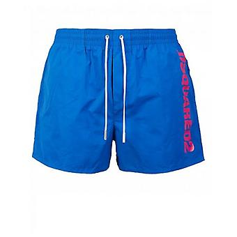 Dsquared2 Script Vertical Logo Swim Shorts