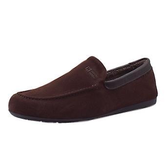 Nordikas 1390 Alvaro Men's Luxury Moccasin Slippers In Mocca Suede