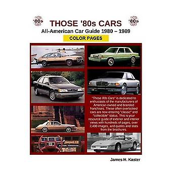 Those 80s Cars  American Catalog  Color Pages by Kaster & James