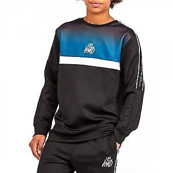 Kings Will Dream Junior Dector Grey/Teal Fade Crew Neck Sweatshirt J456