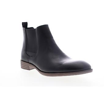 Robert Wayne Oklahoma  Mens Black Leather Chelsea Boots Shoes