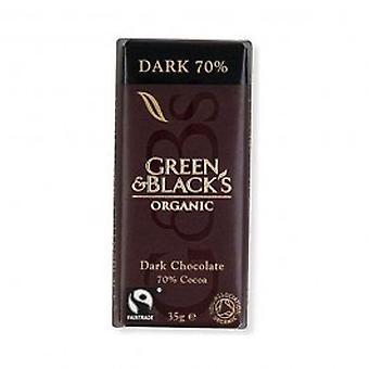 الأخضر & السود-ز 35 الشوكولاته الداكنة (حزمة 30)