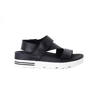 Tosca Blu Sandano Nero Zeppa 1617S325 chaussures universelles pour femmes d'été