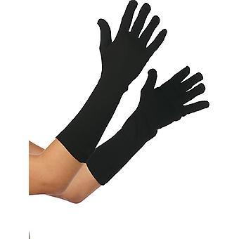 Handsker sort lang 35cm tilbehør Carnival handske