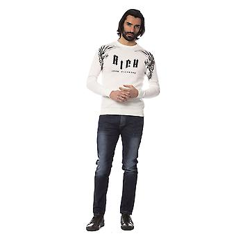 Rich John Richmond O F F- W H I T E Sweater -- RI81987696