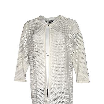 Magellan Femmes-apos;s Top 3/4 Sleeve Button Closure Ivory
