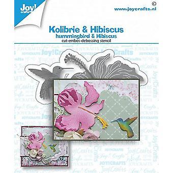 Joy! Crafts Cut-emboss-debossdie - Hummingbird & flower 6002a1468 57x58a25x30mm