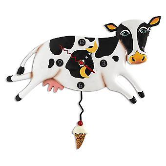 Allen entwirft Bessie springenden Kuh-Pendel-Wanduhr