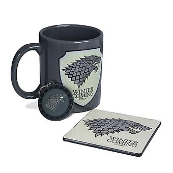 Game of Thrones Strong Mug, Coaster & Keychain Gift Set