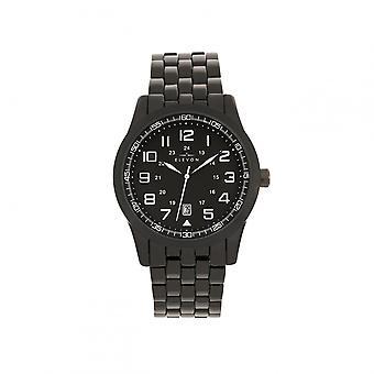 Elevon Garrison Bracelet Watch w/Date - Black