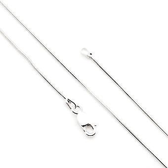 Cadena de plata cadena de serpiente 925 plata 60 cm (No.: MKE 03-60)