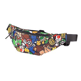 Super Mario Bros. Hahmot AOP vyötärö laukku