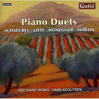 Piano Duets By List Honegger Schaeuble [CD] USA import