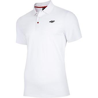 4F NOSH4 TSM007 Biały NOSH4TSM007BIAY universal all year men t-shirt