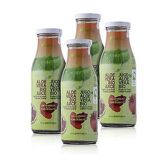 Pack x4 Organic Aloe Vera Juice with Pomegranate 4 units