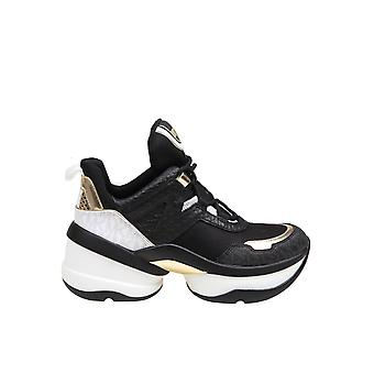 Michael By Michael Kors 43t0olfs7d038 Women's Black Leather Sneakers