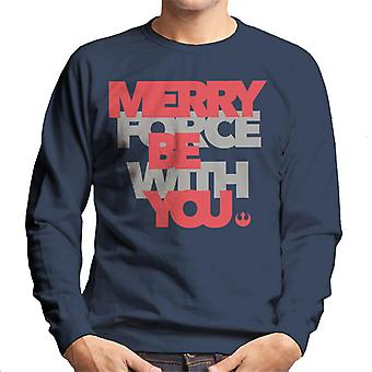 Star Wars Natal Merry Force Rebel Alliance Men 's Sweatshirt