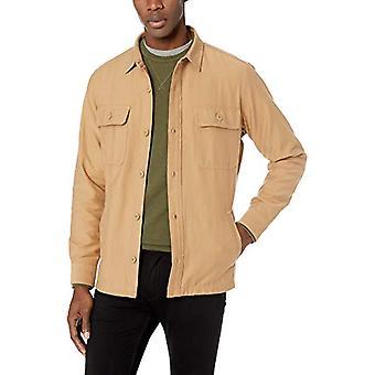 Goodthreads Men's Military Broken Twill Shirt Jacke, -khaki, Medium