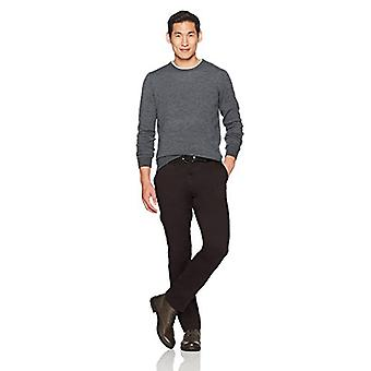Goodthreads Men's Straight-Fit Washed Stretch Chino Pant, Black, 38W x 32L