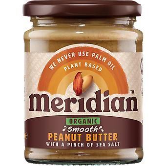 Meridian Foods Organic peanut butter smooth with salt 6x280 gr