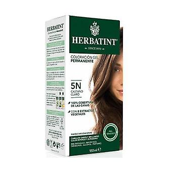 Coloration Light Brown Permanent Gel 5N 150 ml (Light Brown)
