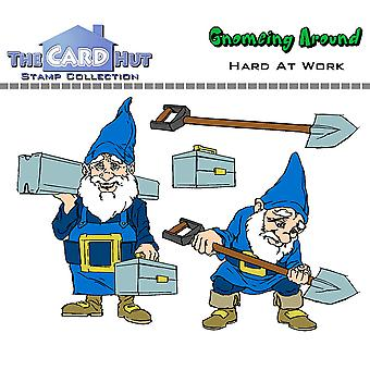 The Card Hut Hard at Work Clear Stamps