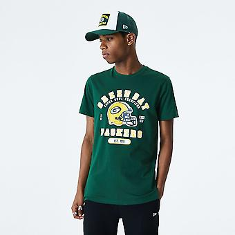 New Era NFL Helmet And Wordmark T-Shirt ~ Green Bay Packers