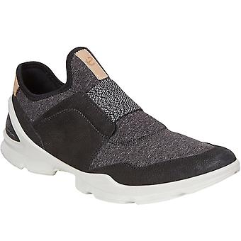 Ecco Womens Biom Street Leather Slip On Outdoor Hiking Trail Trainers - Black