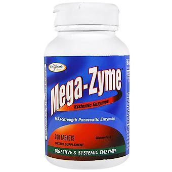 Thérapie enzymatique, Méga-Zyme, Enzymes systémiques, 200 comprimés